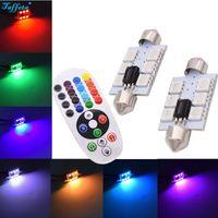 controlador de domo al por mayor-2 piezas de x de lectura de luz RGB de coches 36MM 39MM los 41MM 42MM Cúpula 12V LED SMD 5050 con el regulador alejado