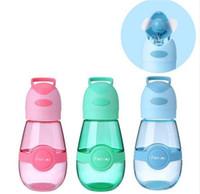 fda bpa al por mayor-400 ml ventiladores Botella de agua Botella de agua portátil Práctico Resistente al calor sin BPA con mini ventilador USB Ventilador de verano para estudiantes