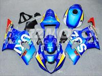 carcaça gsx venda por atacado-Kit de carenagem para SUZUKI GSXR1000 GSX-R1000 GSXR 1000 K3 03 04 2003 2004 Carenagem de carroçaria Blue Red Z2