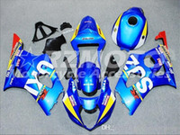 k3 gsxr verkleidungen großhandel-Verkleidungssatz für SUZUKI GSXR1000 GSX-R1000 GSXR 1000 K3 03 04 2003 2004 Verkleidungsaufbau Blau Rot Z2