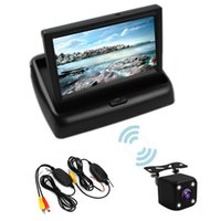 Wholesale car reverse parking camera wireless for sale - Group buy Wifi Wireless Rear View Camera Vehicle Folding Foldable Monitor Video System Car Parking Monitor With Reverse Camera