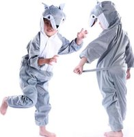 Wholesale purple clothes for girls size for sale - New style the children cosplay Grey Wolf Lion cat Suitable for boys and girls Stage costume short style dancing clothe