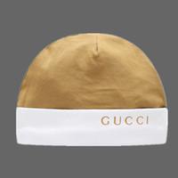 rosen-kappe rosa großhandel-INS europäischen und amerikanischen neuen Mode Baumwolle bequem Baby Hut Baby aus Kappe Brief elastischen Hut