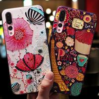 huawei telefonu için 3d vaka toptan satış-Huawei Cep Telefonu Kılıfları Karikatür 3D Cameo Cep Kapak Koruyun Kadınlar Kızlar için Sevimli TPU Cep Telefonu Kabuk