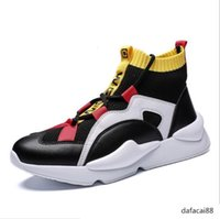 Wholesale air style black shoes for sale - Group buy 2019 New Y3 Style High Top Mens Sneakers Triple Black Grey Yellow High Quality Boots Trainers Outdoors Sports Shoes Designer ChaussuresL29