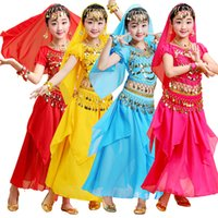 Wholesale dancewear costumes sequin for girls for sale - Group buy Girl Professional India Dancewear Belly Dance Costumes For Girls Egypt Belly Dancing Costume for Girl Bollywood Dance Costume