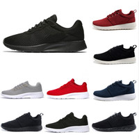 erkekler siyah hafif koşu ayakkabıları toptan satış-Nike Roshe Cheap Tanjun 3.0 London 1.0 Run Running Shoes men women black Blue low Lightweight Breathable Olympic Sports Sneakers mens Trainers 36-45