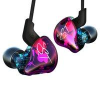 auriculares de aislamiento de ruido al por mayor-KZ ZST Armadura de auriculares Controlador dual Auricular En la oreja Monitores de audio Aislamiento de ruido Música de alta fidelidad Auriculares deportivos