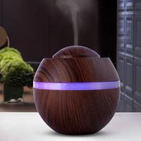 ingrosso umidificatore cambia colore-Umidificatore d'aria 500ML nuovo diffusore di olio essenziale di aroma ultrasonico con venatura del legno