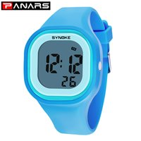 enfants filles montres numériques achat en gros de-PANARS Fille Garçon Enfants Montres Kid femmes Montres Hommes Horloge LED Silicone Digital Light Sport Montre erkek Saat Wristwatch