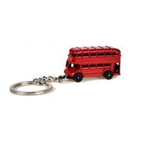 metal vermelho de ônibus venda por atacado-Vintage Britânico Miniatura Londres Chaveiro Caixa de Telefone Vermelho Cabine de Telefone Bus Mail Box Táxi Big Ben Modelo Pequeno Chaveiro modelo Gidt