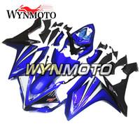 yamaha yzf carenado al por mayor-Carenados de motocicleta para Yamaha YZF 1000 R1 2007 2008 negro casco ABS azul plástico inyección carenetas de moto cubiertas