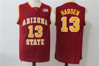красная майка команды оптовых-NCAA 13 Харден Колледж Трикотажные изделия Штат Аризона Sun Devils Jersey Мужчины Баскетбольная Команда Red Away Желтый Белый Для Спортивных Болельщиков Бесплатная Доставка