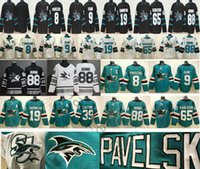 1b575c3ee3f San Jose Sharks Hockey 8 Joe Pavelski 9 Evander Kane 19 Joe Thornton 39 Logan  Couture 65 Erik Karlsson 88 Brent Burns Green White Jerseys