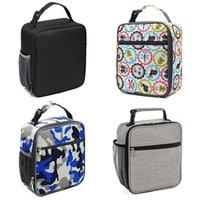 isolierte kühler-lunchboxen großhandel-THINKTHENDO Adult Insulated Lunch Box Wiederverwendbare Lunch Bag Kühltasche für Männer Frauen