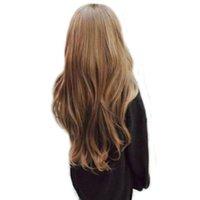schöne lange haare frauen großhandel-00577 freie Verschiffendamen lang Cosplay volle Perücke der Welle der lockigen schönen Haarfrauen