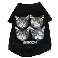 japão roupas marca venda por atacado-Dog roupas primavera e no verão novo gato Teddy schnauzer lei Japão e Coreia do Sul quatro cabeça de gato pequena marca maré roupas de marca