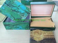 ingrosso boxed christmas cards-Vendite di fabbrica Confezione regalo di Natale 116610 116660 116520 116710 Scatola per orologi Scatola perpetua Confezioni Portafogli Scatole regalo verdi Uso Presidente