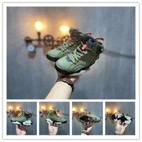 otantik basketbol ayakkabıları 11 toptan satış-Jumpman Otantik TS Designers 6s 6 Cactus Jack Orta Zeytin GLOW İÇİNDE KARA Ordusu Yeşil Süet 3M Çocuk basketbol ayakkabıları face