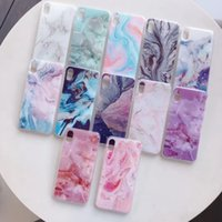Wholesale rock phone case online – custom Starry Marble Soft TPU IMD Case For Iphone Pro Max XR XS Max X Plus Bling Glitter Natural Granite Stone Rock Luxury Gel Phone Cover