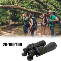 images binoculaires achat en gros de-Télescope binoculaire professionnel haute résolution Résolution d'image Spyglass Observation d'oiseaux Chasse Réglable 20-180 * 100