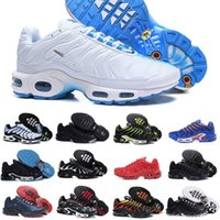 ingrosso scarpe da ginnastica denim casual-2019 Nike Air Max Tn Shoes New Airmax Tn Plus Mens scarpe New Black Bianco Red Air TN Plus Ultra scarpe sportive economici TN Requin moda casual Sneakers