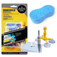 Wholesale car windshield repair resale online - Professional Quality Windshield Repair Kit Glass Corrector Set Crack Repairing for Car Vehicle V6