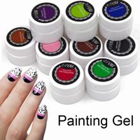 Wholesale sticker lavender for sale - Group buy Ellwings Glitter Painting UV Gel Nail Polish Semi Permanent DIY French Sticker Nail Art Colors Drawing Gel Varnish