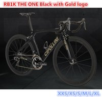 Wholesale black complete bike resale online - T1000 K Matte MCipollini RB1K THE ONE Gold logo Black complete bike full bicycle with groupset mm carbon wheelset free shiping