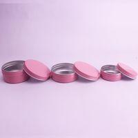 Wholesale eyeshadow balm resale online - Pink g g g g g g Aluminum Jars Lip Balm Pot Skin Care Cream Eyeshadow Lipgloss Liquid Base Foundation Container Tins