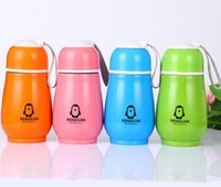 Wholesale penguin water bottle for sale - Group buy 300ml Penguin Shape Water Bottle Stainless Steel Double Layer Cute Portable Tumblers Vacuum Flask Thermos Cup Office Travel Bottle SN3402