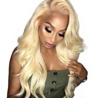 Wholesale white women human hair wigs for sale - Group buy Honey Blonde Human Hair Wig Pre Plucked With Baby Hair Vrgin Brazilian Body Wave Blonde Full Lace Front Wigs For White Women
