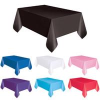 mavi masa örtüleri toptan satış-2018 Yeni Moda Şeker Renk Büyük Plastik Dikdörtgen Masa Örtüsü Örtüsü Silin Temiz Parti Masa Örtüsü Ev Tedarik M4 Için Kapakları