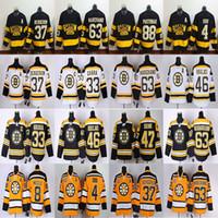 Wholesale patrice bergeron black ice jersey for sale - Group buy Men s Boston Bruins jersey Brad Marchand jesrey David Pastrnak Zdeno Chara37 Patrice Bergeron Bobby Orr RBK hockey jerseys