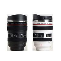 tasse de voyage d'acier inoxydable d'objectif de caméra achat en gros de-Tasse de lentille de simulation Creative Caniam Tasse à café tasse à café 400ml en acier inoxydable tasse de voyage caméra Eos 24-105mm
