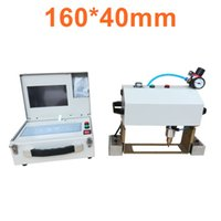 Wholesale cnc metal router machine for sale - Group buy CNC Pneumatic Dot Pin Metal Nameplate Marking Machine for Metal Parts digital router pneumatic marking machine for steel