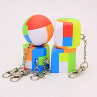 Wholesale ring pendant children for sale - Group buy Geometry Keychain Building Blocks Cube Pendant Key Ring Accessories Keychains Children Educational Intelligence Toys Gifts ym N1