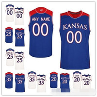 Wholesale jayhawks jerseys for sale - Custom Kansas Jayhawks College  Basketball royal blue white Cream Stitched dcd3ee8b8