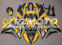 abs verkleidungsform großhandel-Heiße verkäufe Neue Spritzguss ABS Motorrad Verkleidung Kit Für YAMAHA R3 R25 2014 2015 2016 2017 2018 2019 Karosserie set Benutzerdefinierte Gelb Grau