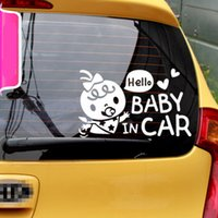 Wholesale baby board stickers for cars for sale - Group buy Baby on Board Ho Baby in Car Reflective Window Ho Car Auto Decal Motorcycle Sticker for Car Styling