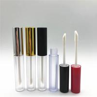 Wholesale mini balm lips resale online - 3 ml Empty Clear Lip Gloss Tube Lips Balm Bottle Brush Container Beauty Tool Mini Matte Refillable Bottles Lipgloss RRA1883