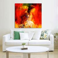 ingrosso bella ragazza moderna-Pittura a olio dipinta a mano su tela Bella ragazza brillante di arte della parete Arte astratta moderna pittura a olio Home Decor No Frame