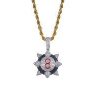 Wholesale hiphop diamond pendant necklace for sale - Group buy Hiphop Star Hammer Pendant Necklace K Gold Plated Full Diamond Hip Hop Jewelry Ice Out Mens Letter Necklaces