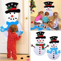 askı aksesuarları toptan satış-DIY Noel Snowman Süsler Yılbaşı Hediyeleri Yılbaşı Kapı Duvar Noel Dekorasyon Çocuk Manuel Aksesuarlar WX9-1589 Asma Keçe