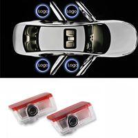 led emblèmes de voiture laser achat en gros de-Lumière de porte de voiture led pour Mercedes Benz W213 Classe E W212 M W166 ML bienvenue lumière projecteur laser emblème fantôme lampe Shadow accessoires