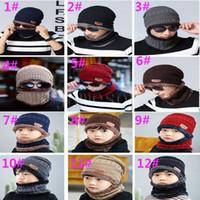 Wholesale golf cap neck for sale - Group buy Neck warmer winter hat knit cap scarf cap Winter Hats For men knitted hat men Beanie Knit Hat Skullies Beanies