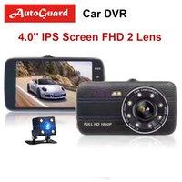 kamera-objektiv großhandel-Auto DVR 4 Zoll Auto Kamera Dual Lens FHD 1080 P Dash Cam Video Recorder mit Rückfahrkamera Registrator Nachtsicht DVRs