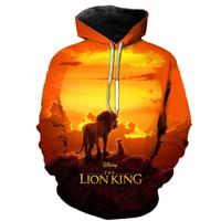 Wholesale lion king hoodies sweatshirt for sale – custom Newest Lion King D Printed Hooded Sweatshirts Men Women Fall Winter Streetwear Hoodies Lion King Men s Fashion Casual Pullover