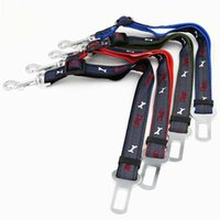 Wholesale best dog car resale online - Best High Quanlity Cheap Price Pet Supplies Cat Dog Adjustable Car Vehicle Safety Seatbelt Seat Belt Harness Leash