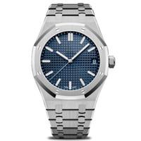 edelstahl herren große größe uhr groihandel-New Luxury Herren Automatikuhren Mode Edelstahl Hallo Qualität moderne Armbanduhren Rose Gold Royal Oak Watch 42mm Größe